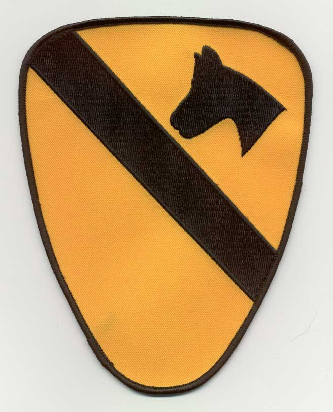 View 1ST CAVALRY  BACK PATCH 7.25