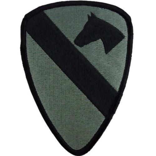 Armed Forces Insignia - USA ARMY PATCH 1ST CAVALRY SUBDUED