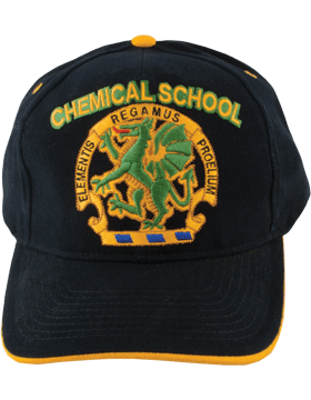View Army Ball Cap Black with Chemical School
