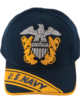 View  USN Navy Ball Cap U.S. Navy and Officer Cap Device