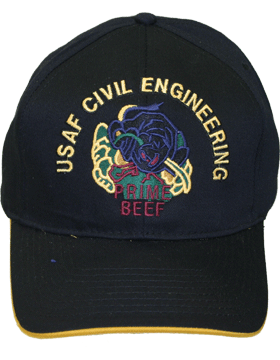 View Ball Cap USAF Air Force Civil Engineering Prime Beef