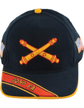 View Army Ball Cap 32nd Field Artillery Branch Of Service