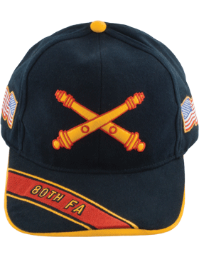 View Army Ball Cap 80th Field Artillery Branch Of Service