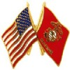 View USA  USMC FLAGS  PIN