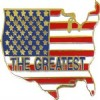 View AMERICA THE GREATEST FLAG MAP  PIN