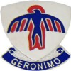View ARMY PIN 501ST INFANTRY   GERONIMO