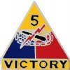 View ARMY PIN 5TH ARMORED  DIVISION  VICTORY