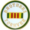 View ROUND VIETNAM BROTHERS FOREVER PIN