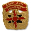 View US ARMY UNIT CREST 125TH ORDNANCE BATTALION MOTTO: ARNO AND ONWARD 1-PAIR