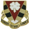 View US ARMY 4th NCO Academy Unit Crest (Forge Steel Links)