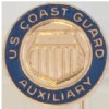 View  U.S.COAST GUARD AUXILIARY TIE TACK  GOLD WITH BLUE ENAMEL