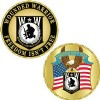 View CHALLENGE COIN-WOUNDED WARRIOR,FREEDOM ISNT FREE (1-5/8