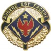 View US ARMY 1st Brigade 4th Infantry Special Troops Battalion Unit Crest Pin DUI  (Avdere Est Facere)