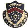 View US ARMY 1st Personal Services Battalion Unit Crest Pin DUI  (First In Soldier Support)