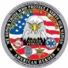 View DECAL STICKER AMERICAN HEROES (3-1/4