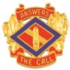 View US ARMY 142nd Field Artillery Brigade Unit Crest DUI PIN  (Answers The Call)