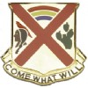 View US ARMY 108th Cavalry Unit Crest DUI (Come What Will)