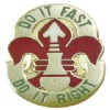 View US ARMY 35th Artillery Group Unit Crest Pin DUI (Do It Fast Do It Right)