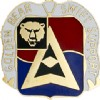 View US ARMY 40th Finance Battalion Unit Crest Pin DUI  (Golden Bear Swift Support)