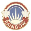 View US ARMY 42nd Infantry Division  Unit Crest Pin (Rainbow)