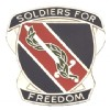 View US ARMY 43rd Adjutant General Unit Crest Pin (Soldiers For Freedom)
