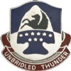 View US ARMY 63rd Aviation Brigade  Unit Crest (Unbridled thunder)