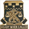 View US ARMY 105th Military Police Battalion Unit Crest DUI (Ready When Called)