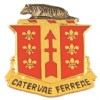 View US Army 121st FA Field Artillery Unit Crest DUI (Catervae Ferreae)