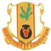 View US ARMY Regiment Unit Crest (Redoutable Et Fougueux )