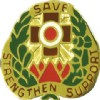 View US ARMY Combat Support Hospital Unit Crest (Save Strenghten Support)