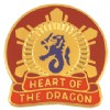 View US ARMY 330th Transportation Center Unit Crest Pin DUI (Heart Of The Dragon)