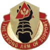 View US ARMY 332nd Support Battalion Unit Crest Pin DUI (The Strong Arm Of Support)