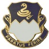 View US ARMY 411th Regiment Unit Crest Pin (Paratus Ferire)