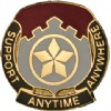 View US ARMY 501st Finance Battalion Unit Crest (Support Anytime Anywhere)