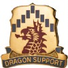 View US ARMY 601st Support Battalion Unit Crest (Dragon Support)
