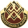View US ARMY 645th Support Group Unit Crest (Unquestionable Support)