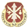 View US ARMY Missile And Munitions Center And School Unit Crest (Scientia Ad Justitiam)