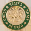 View United States Army Personnel Retired Lapel Pin