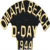View OMAHA BEACH D DAY 1944 GOLD SCRIPT PIN