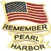 View REMEMBER PEARL HARBOR US AMERICAN FLAG WITH SCRIPT PIN