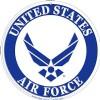 View AIR FORCE TIN MEDAL SIGN USAF LOGO (ROUND) (12