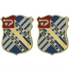View US ARMY UNIT CREST 18TH FIELD ARTILLERY    1-PAIR