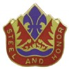 View US ARMY 143rd FA Field Artillery Group Unit Crest DUI (Steel And Honor)
