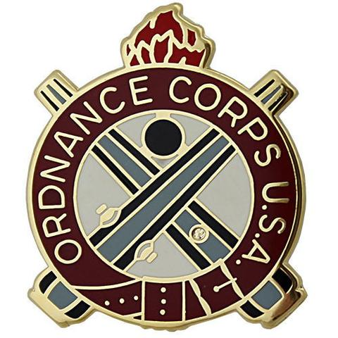 View US ARMY CORPS CREST  ORDNANCE MOTTO: CORPS .U.S.A.